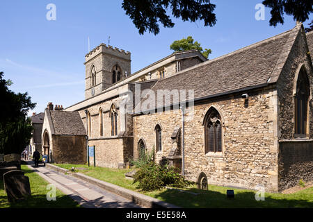 The 12th century St Giles church in the city of Oxford UK - Stock Photo