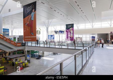 Departure Hall at Bordeaux–Mérignac Airport France. - Stock Photo