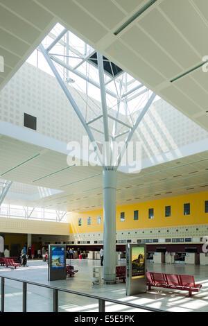 Departure Hall at Bordeaux–Mérignac Airport France - Stock Photo