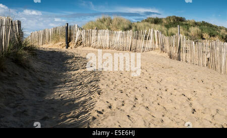 Camber Sands, Camber, East Sussex, Britain. - Stock Photo