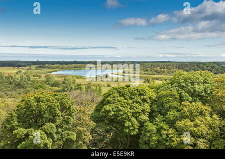 SPYNIE PALACE NEAR ELGIN MORAY VIEW FROM DAVIDS TOWER ACROSS TO SPYNIE LOCH - Stock Photo