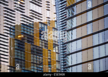 Located on the Las Vegas Strip in Paradise, Nevada USA condos and business office development - Stock Photo