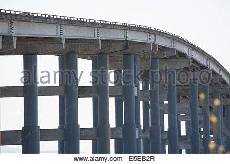 Highway 37 Bridge at Mare Island is elevated for Taller vessels - Stock Photo