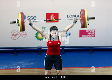 Glasgow, Scotland, UK, Tuesday, 29th July, 2014. Gold Medal Winner Marie-Eve Beauchemin-Nadeau of Canada competing - Stock Photo