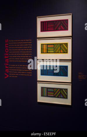 Museum of Fine Arts Boston MA quilt show - Stock Photo