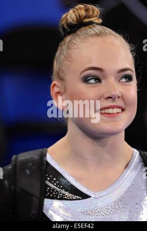 Glasgow, Scotland, UK. 29th July, 2014. The gymnast Charlotte Sullivan (NZL) at the Commonwealth Games, Glasgow. - Stock Photo