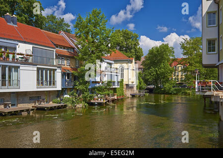 Houses and Small Synagogue, Erfurt,  Germany - Stock Photo