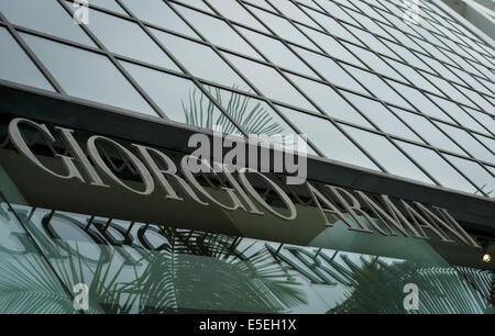 June 23, 2014 - Beverly Hills/Los Angeles, California, U.S - Italian fashion designer Giorgio Armani, working his - Stock Photo