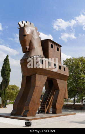 Trojan Horse, Trojan, Troy, Çanakkale Province, Marmara Region, Turkey - Stock Photo