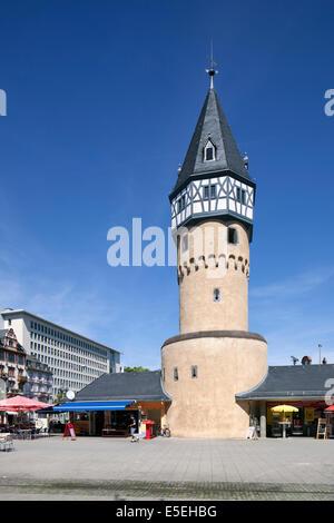 Bockenheimer Warte, former watchtower of the Frankfurter Landwehr defensive dyke, Frankfurt am Main, Hesse, Germany - Stock Photo