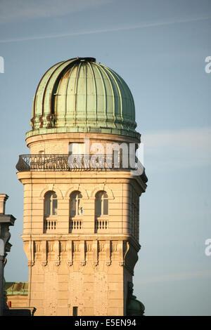 France, paris 6e, universite de la sorbonne, paris IV, tour de l'observatoire, rue saint jacques, - Stock Photo