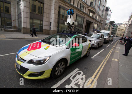 Google Street View Car with camera on roof of vehicle in Central London - Stock Photo