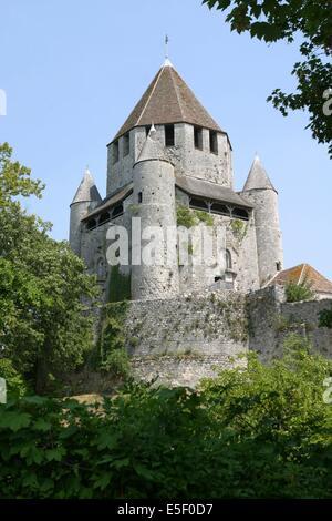 France, region ile de france, seine et marne, provins, cite medievale, tour cesar, rempart, butte, fortifications, - Stock Photo