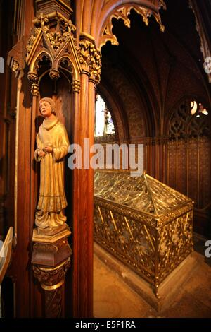 France, ile de france, paris 5e, quartier latin, eglise saint etienne du mont, religion catholique, place saint - Stock Photo
