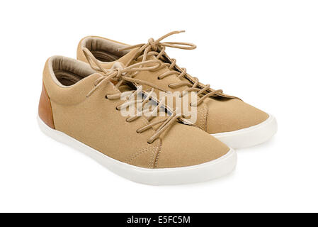 Suede shoes on a white background - Stock Photo