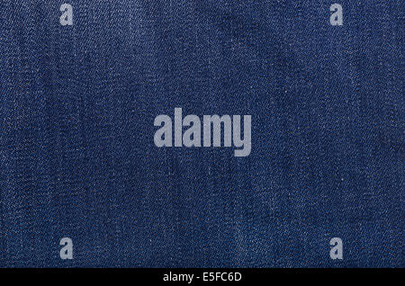Texture of new blue jeans - Stock Photo