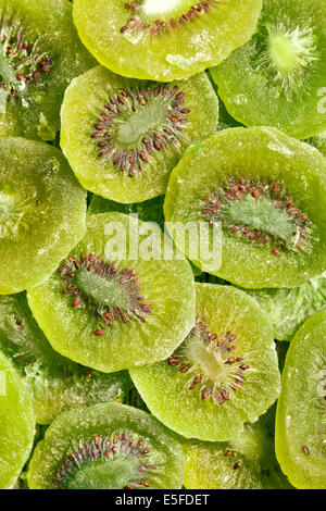 top view of candied kiwi fruit - Stock Photo