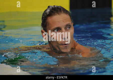 Glasgow, Scotland, UK. 29th July, 2014. Roland Schoeman of South Africa in the mens 50m freestyle final during day - Stock Photo