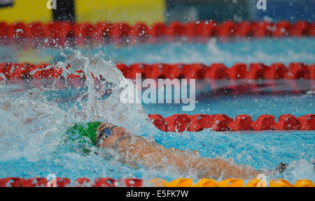 Glasgow, Scotland, UK. 29th July, 2014. Sebastien Rousseau of South Africa in the mens 200m Individual Medley during - Stock Photo