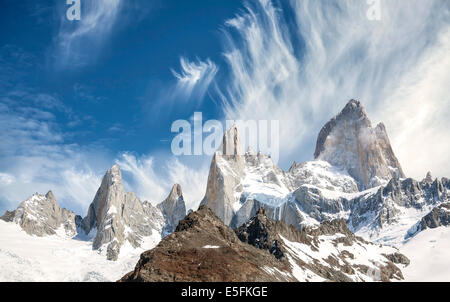Fitz Roy Mountain Range in Patagonia, Argentina - Stock Photo