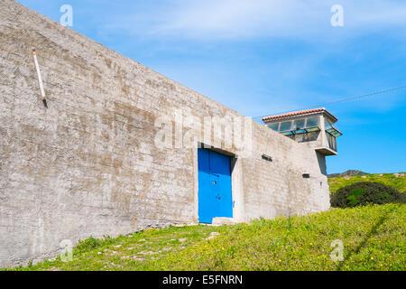 Old prison in Asinara island in Sardinia, Italy - Stock Photo