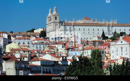 Monastery of Saint Vincent Outside the Walls, Lisbon, Portugal - Stock Photo