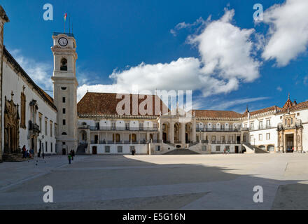 Portugal, the Beira Litoral, Coimbra, The University - Stock Photo