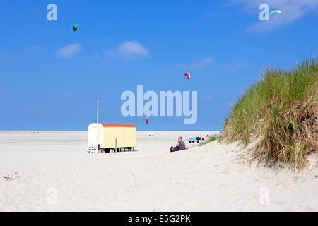 Borkum, Germany: July 29, 2014 - beach wagon - Stock Photo