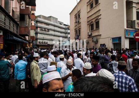 Kuala Lumpur, Malaysia. 28th July, 2014. Foreign Muslim workers in Malaysia celebrate Eidl Fitr in Kuala Lumpur. - Stock Photo