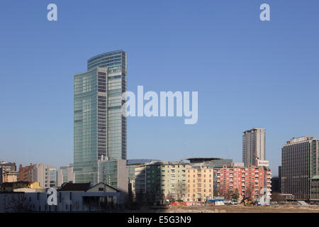 Modern architecture of Lombardy building, Milan, Italy - Stock Photo