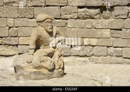 Statue, Old City, Baku, Azerbaijan - Stock Photo