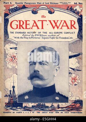 1916 The Great War front page magazine Lord Kitchener - Stock Photo