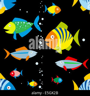 background of colorful fish - Stock Photo