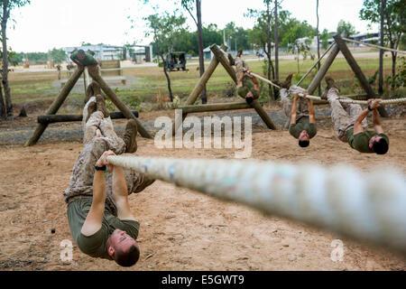U.S. Marines with Charlie Company, 1st Battalion, 5th Marine Regiment, Marine Rotational Force-Darwin complete an - Stock Photo