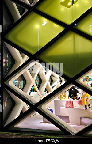 Luxury shops in Omotesando district, Tokyo, Japan. - Stock Photo