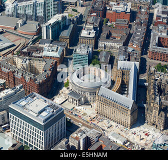 Manchester Town Hall, Manchester City Centre, North West England, UK - Stock Photo
