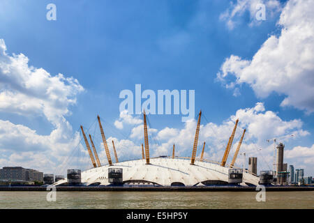 The 02 Arena, The Dome, the Millenium Dome - Entertainment and sports venue on the Greenwich Peninsula, North Greenwich, - Stock Photo