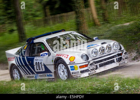 1986 Ford Rs200 Evo Group B Rally Car With Driver James Avis At The