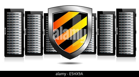 Network Security - Information technology conceptual image - Stock Photo