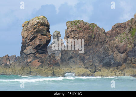 """View taken looking NNE towards Rubha na h-Airde on the Isle Of Lewis """"Rocks & Faces"""" #0064 - Stock Photo"""