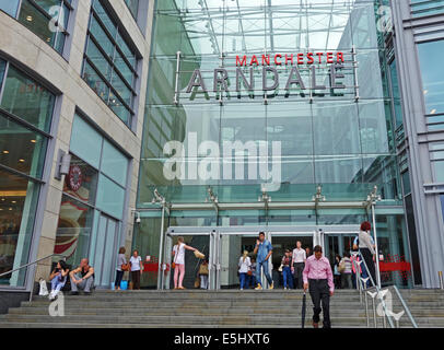 The main Entrance to the Arndale shopping centre in Manchester, England, UK - Stock Photo