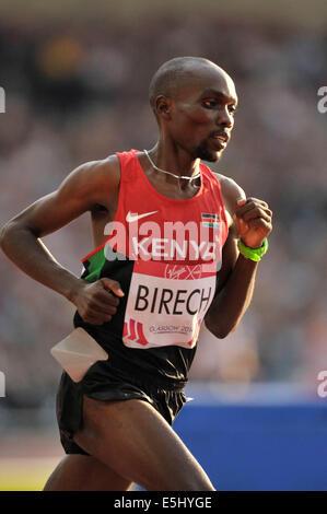 Glasgow, Scotland, UK. 1st Aug, 2014.  Kenya's Jonathan Ndiku wins the Men's 3000m Steeplechase with Jairus Birech - Stock Photo