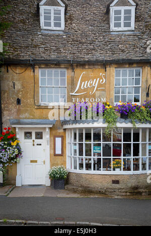 Lucy's Tearoom in Stow-on-the-Wold, the Cotswolds, Gloucestershire, England - Stock Photo