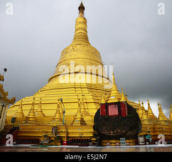 Shwemawdaw Paya Pagoda is a stupa located in Bago, Myanmar  It is often referred to as the Golden God Temple - Stock Photo