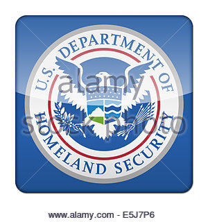 United States Department of Homeland Security logo icon isolated app button - Stock Photo