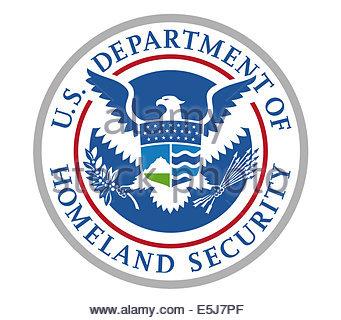 United States Department of Homeland Security logo icon - Stock Photo