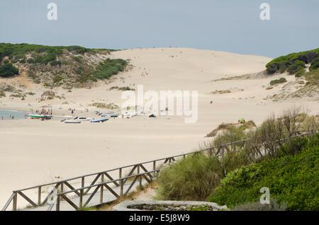 Punta Paloma, Sand dune system at Bolonia, Costa de la Luz, Cadiz, Spain. Stock Photo