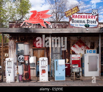 Hackberry General Store in Arizona on old Route 66 - Stock Photo