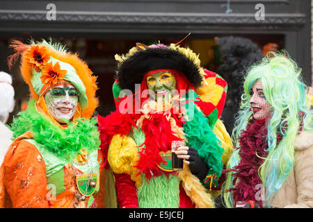 Netherlands, Maastricht, Carnival festival. Nicely made-up woman. Portrait - Stock Photo