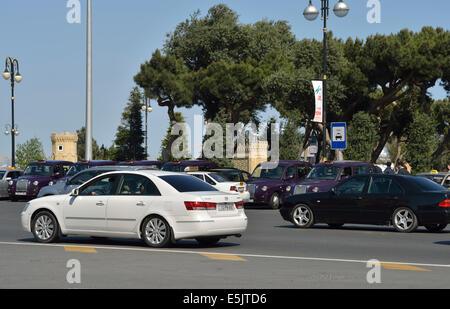 Street in Baku, Azerbaijan - Stock Photo
